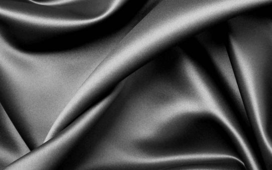 Black Silk Fabric Texture Powerpoint Background