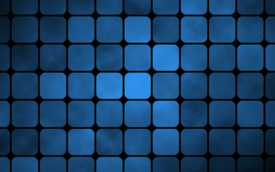 Blue Square Tiles Powerpoint Background